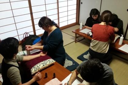 ふくりんぱ ハンドマッサージ 蒲池 H27.1.27.3